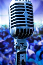Preview iPhone wallpaper Microphone photography