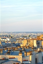 Preview iPhone wallpaper Paris, city, morning, sunshine, France