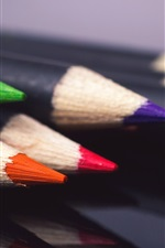 Preview iPhone wallpaper Pencils, colors, still life macro photography