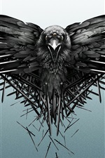 Raven, swords, Game of Thrones