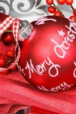 미리보기 iPhone 배경 화면 빨간 크리스마스 공, 딸기, 장식