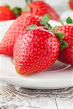 Preview iPhone wallpaper Ripe strawberry, red berries, sweet fruit