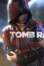 Preview iPhone wallpaper Rise of the Tomb Raider, Lara Croft, rain, night