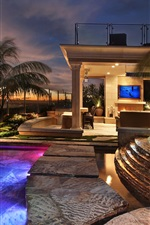 Preview iPhone wallpaper San Clemente, resort, hotel, pool, lights, night, USA