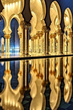 Preview iPhone wallpaper Sheikh Zayed Grand Mosque, Abu Dhabi, architecture, night, light
