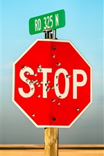 Preview iPhone wallpaper Stop sign