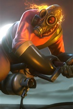 Preview iPhone wallpaper Team Fortress 2, flamethrower