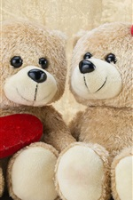 Preview iPhone wallpaper Teddy bears, romantic, love heart