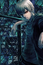 Preview iPhone wallpaper Tokyo Ghoul, red eyes anime boy