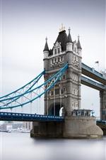 Preview iPhone wallpaper Tower Bridge, river, London, UK