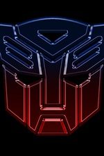 Preview iPhone wallpaper Transformers logo, black background