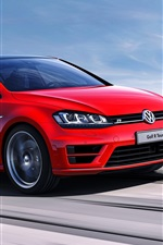 Preview iPhone wallpaper Volkswagen Golf R concept red car speed