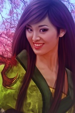 Preview iPhone wallpaper Walt Disney, fantasy Chinese girl, Mulan, dragon