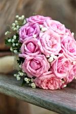 미리보기 iPhone 배경 화면 결혼식 꽃, 꽃다발, 핑크 장미