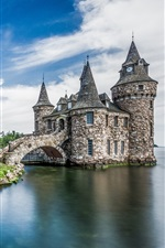Preview iPhone wallpaper Alexandria Bay, Boldt Castle, USA, New York, island, sea