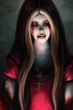 Alice Madness Returns, blood, knife