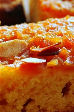Preview iPhone wallpaper Almonds pumpkin cake, baking food