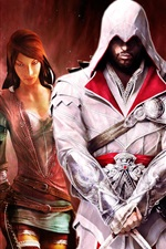 Preview iPhone wallpaper Assassin's Creed, heroes