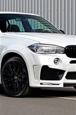 미리보기 iPhone 배경 화면 BMW F15 화이트 SUV 자동차
