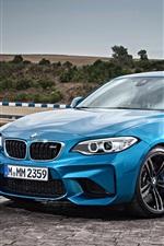 미리보기 iPhone 배경 화면 BMW F87 블루 쿠페
