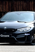 Preview iPhone wallpaper BMW G-Power F82 black coupe