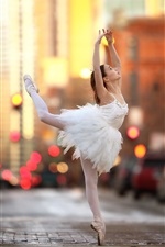 Preview iPhone wallpaper Ballerina, girl dance, street