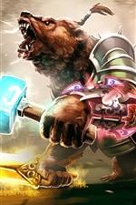 Urso guerreiro, Dota 2, imagem de arte