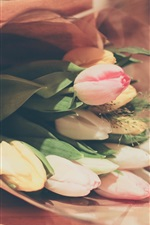 Preview iPhone wallpaper Bouquet tulips, flowers gift