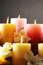Preview iPhone wallpaper Candles and flowers