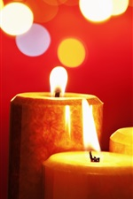 Preview iPhone wallpaper Candles, fire, red style