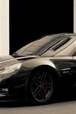 Chevrolet Corvette black supercar side view