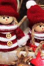 Preview iPhone wallpaper Christmas decoration, elves toys