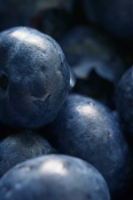 Fruit close-up, blueberries macro photography