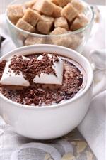 iPhone fondos de pantalla Bebida de chocolate caliente, taza, malvavisco