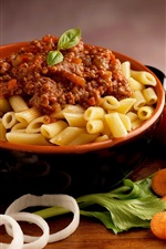 Preview iPhone wallpaper Italian macaroni, tomatoes, food