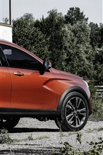 Preview iPhone wallpaper Lada Vesta cross concept car, orange SUV