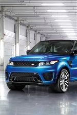 Land Rover Range Rover blue SUV car front view