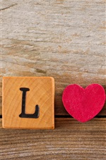 Preview iPhone wallpaper Love, Valentine's day, romantic, wood cubes