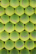 Preview iPhone wallpaper Many green tennis