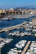 Marseille, France, piers, boats