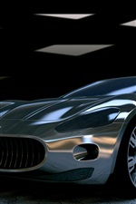 Preview iPhone wallpaper Maserati GT supercar front view