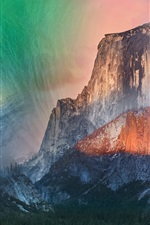 Preview iPhone wallpaper Mountains and stars