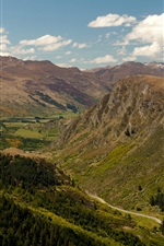 Preview iPhone wallpaper New Zealand, Queenstown, gorge, mountains, road