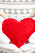 Preview iPhone wallpaper Red love heart, hands
