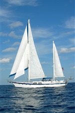 Preview iPhone wallpaper Sailboat, yacht, sea