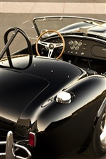 Preview iPhone wallpaper Shelby 427 Cobra classic black car