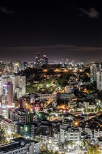 Preview iPhone wallpaper South Korea, Seoul city, night, lights, illumination