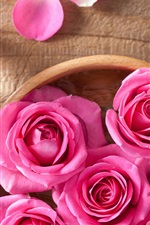 Preview iPhone wallpaper Still life, pink rose flowers, petals, SPA