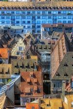 미리보기 iPhone 배경 화면 스트라스부르, 프랑스, 주택, 지붕