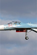 Preview iPhone wallpaper Su-27 multipurpose fighter, flight